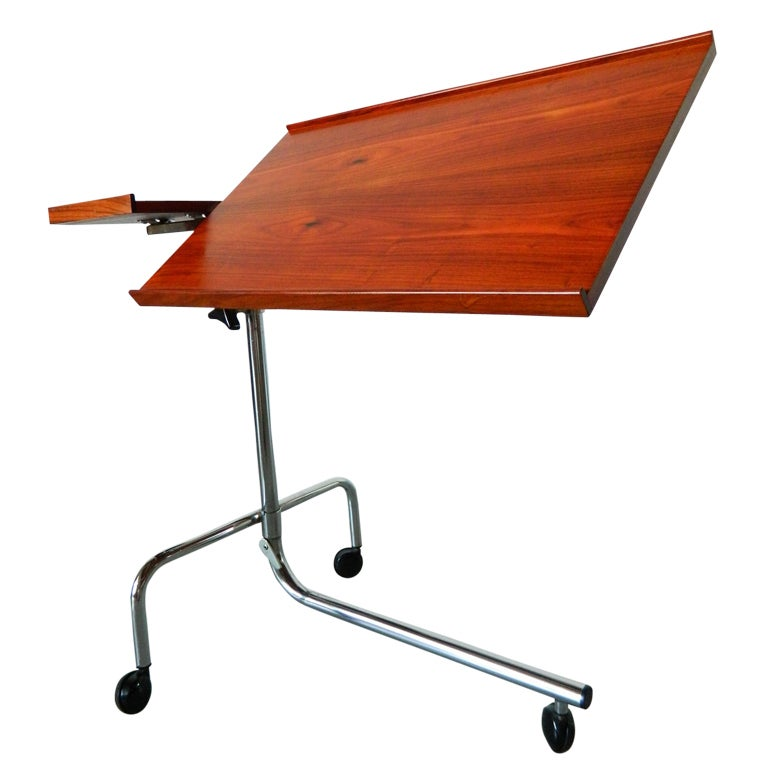 17 Best Images About Rolling Work Tables On Pinterest: Danish Modern Rosewood Rolling Tray Table By Danecastle At