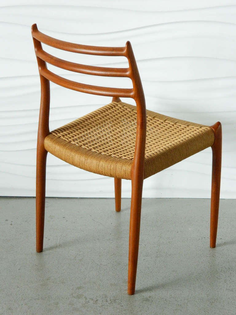 Delicieux This Neils Møller Teak No. 78 Chair Has Its Original Paper Cord Seat.  Manufactured