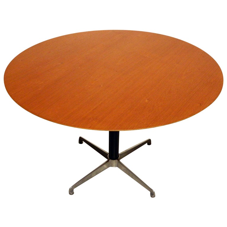 Low Round Teak Coffee Table: Danish Teak High-Low Coffee / Dining Table At 1stdibs