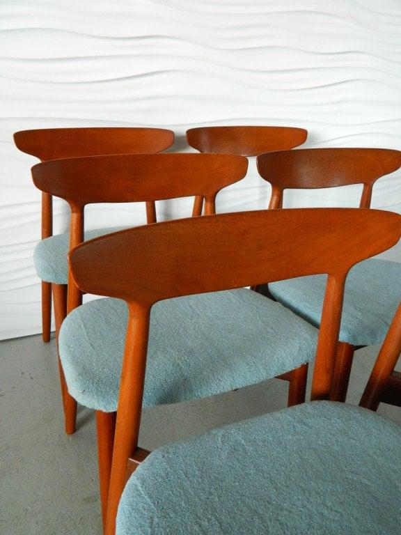 Six Harry Ostergaard Danish Teak Dining Chairs For Randers