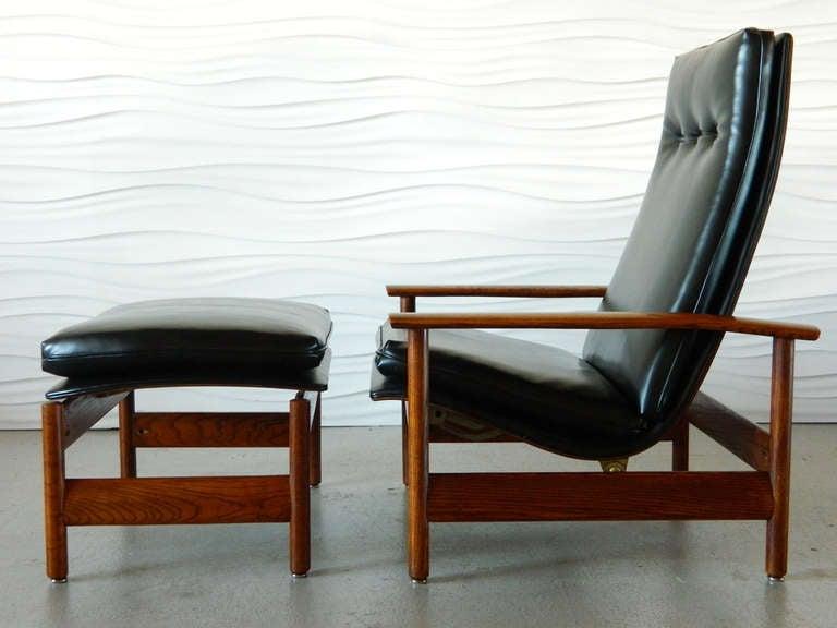 mid century modern reclining lounger ottoman recliner sofa reproduction rhys reviews