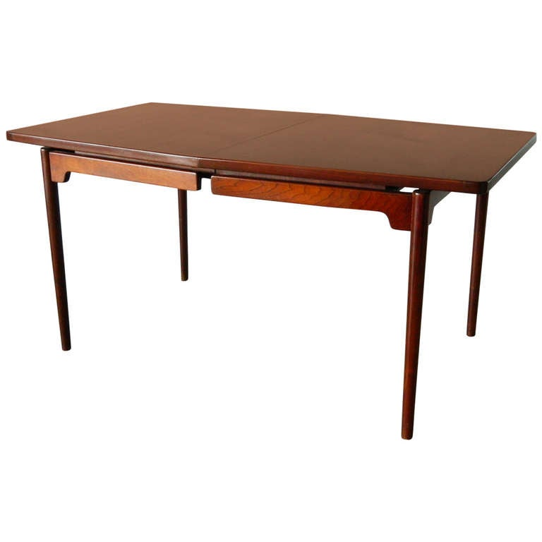 Jens risom floating walnut dining table at 1stdibs for Floating dining table