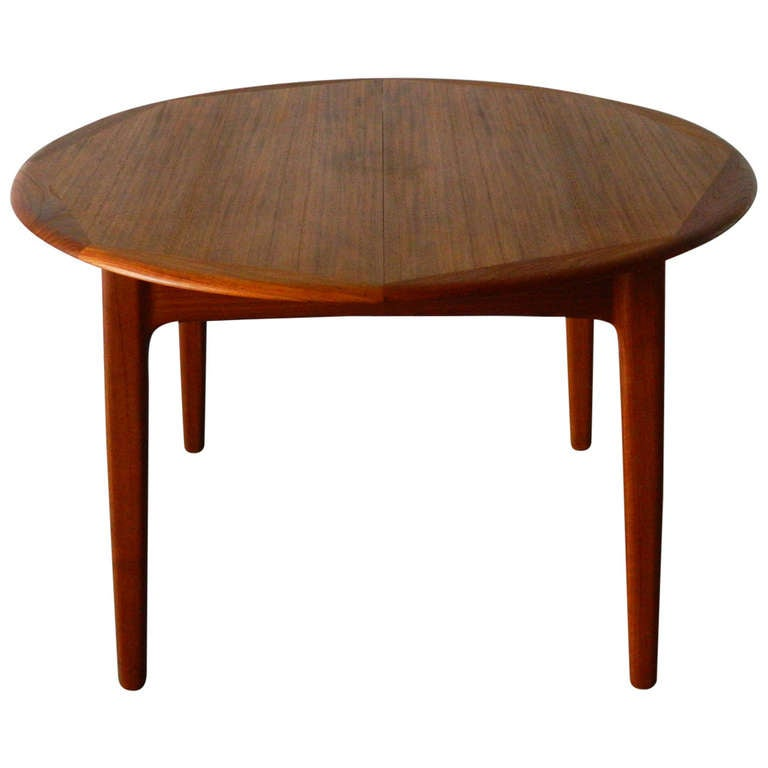 Mid century modern danish teak dining table at 1stdibs for World best dining tables