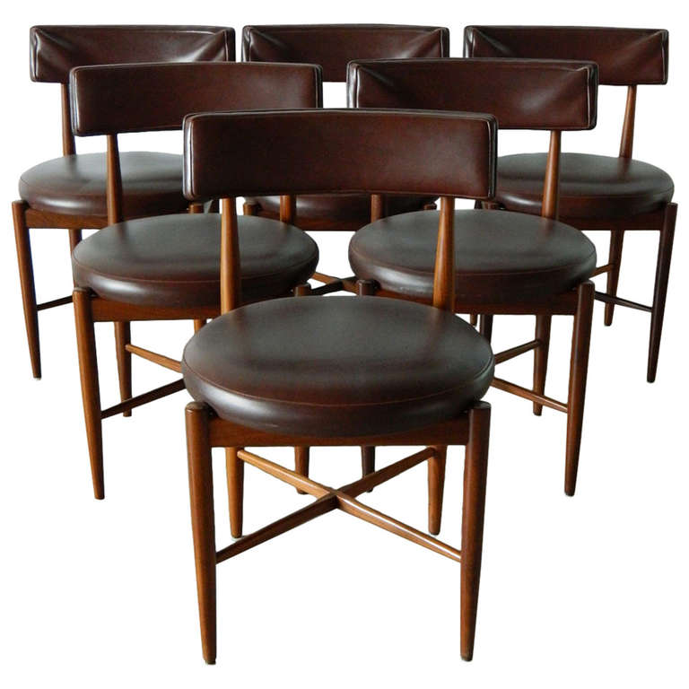 ib kofod larsen g plan teak dining chairs at 1stdibs