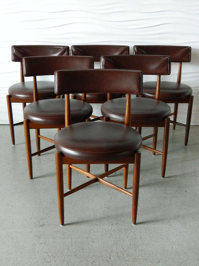 Ib Kofod Larsen G Plan Teak Dining Chairs 2