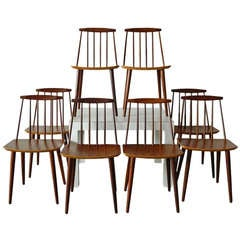 Vintage J77 Teak Chairs by Folke Palsson
