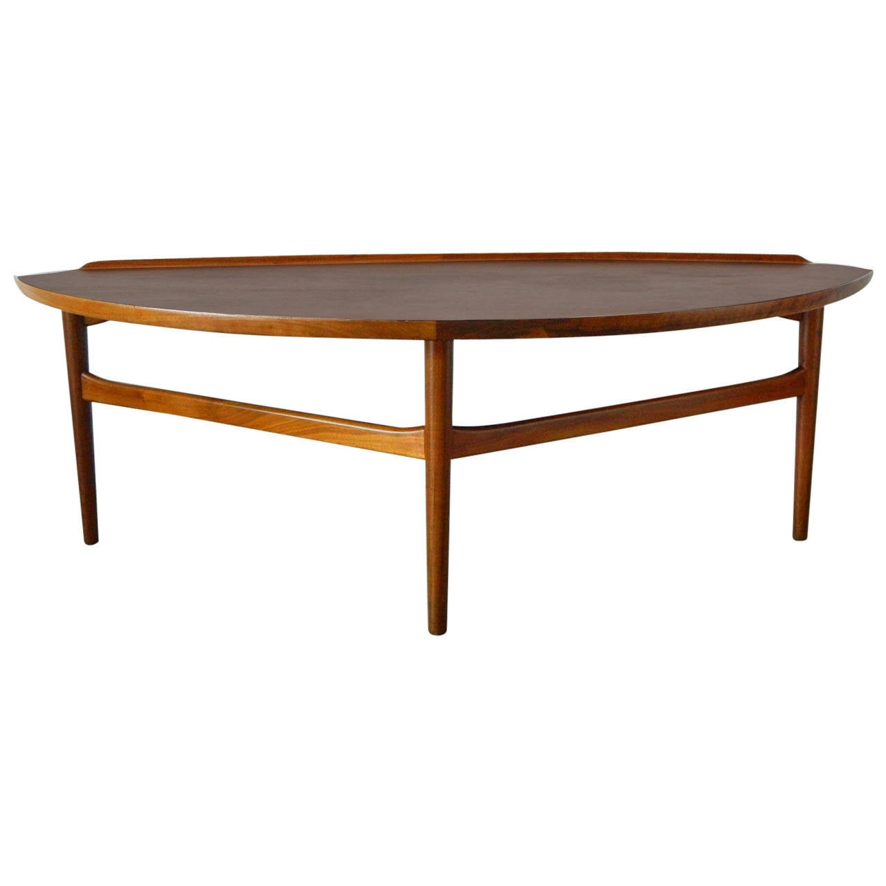 Finn juhl walnut coffee table for baker furniture at 1stdibs Baker coffee table