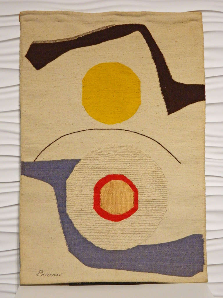Abstract Tapestry By Borisov At 1stdibs