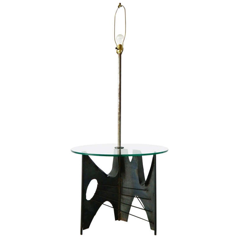 this brutalist metal floor lamp with glass table is no longer. Black Bedroom Furniture Sets. Home Design Ideas