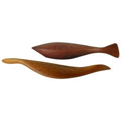 Wood serving pieces at 1stdibs for Canape holders