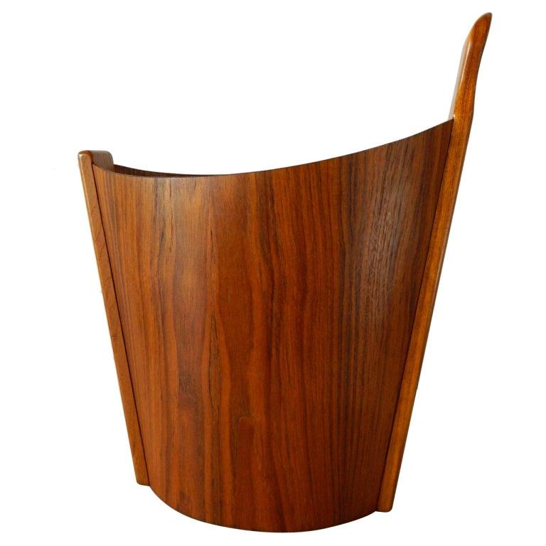Wastepaper Basket westnofa teak wastepaper basket at 1stdibs