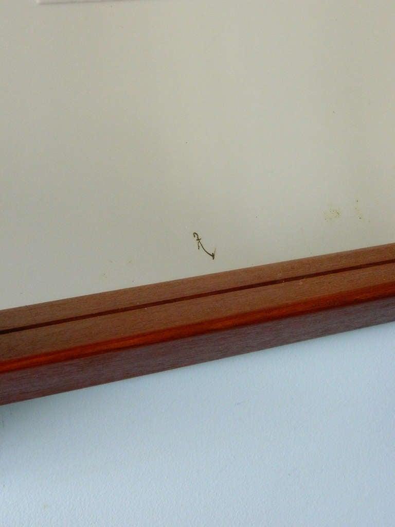 Vintage Teak Mirror and Floating Shelf Attributed to Aksel Kjersgaard For Sale 1