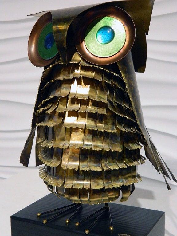 American Curtis Jere Metal Owl Sculpture