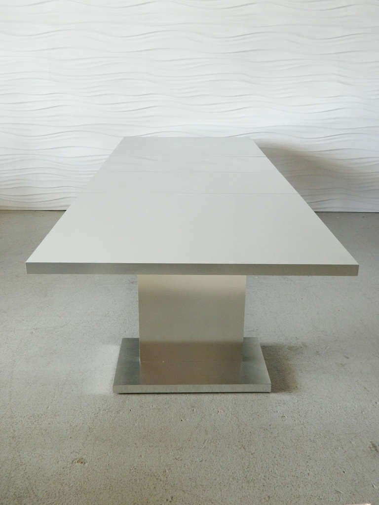 Thayer Coggin Sheath Collection Aluminum Clad Dining Table