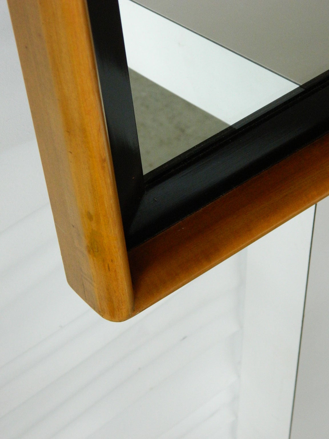 Paul frankl maple and ebonized wood mirror for johnson