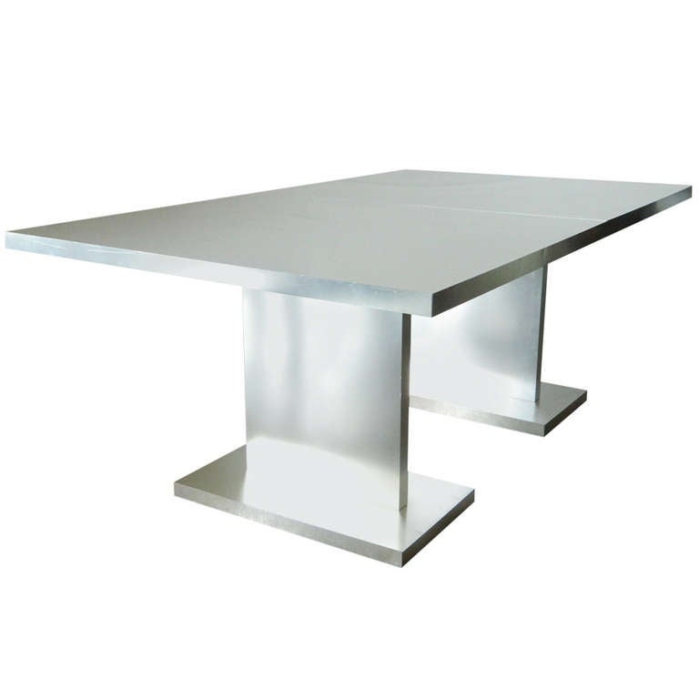 Thayer Coggin Sheath Collection Aluminum Clad Dining Table At Stdibs - Aluminum dining table