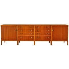 Set of Four Josef Frank-style Swedish Cabinets