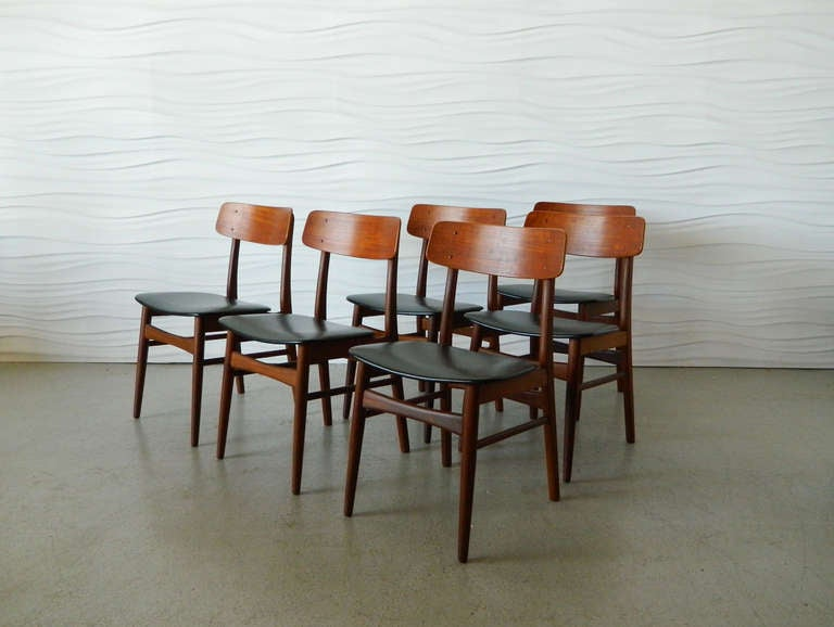 this set of six danish teak dining chairs is no longer available