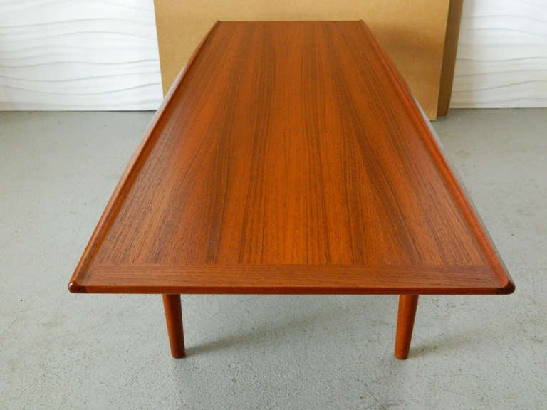 Grete Jalk Danish Modern Teak Coffee Table at 1stdibs