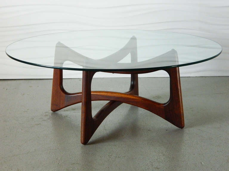 This Interlocking Walnut Coffee Table Was Designed By Adrian Pearsall For Craft Ociates Circa 1960