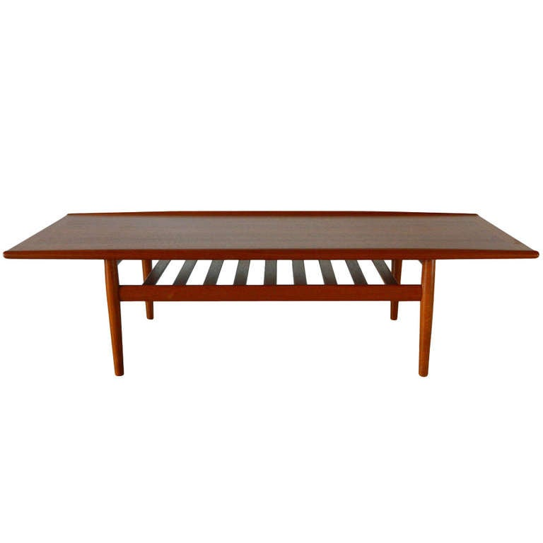 Grete jalk danish modern teak coffee table at 1stdibs Modern teak coffee table