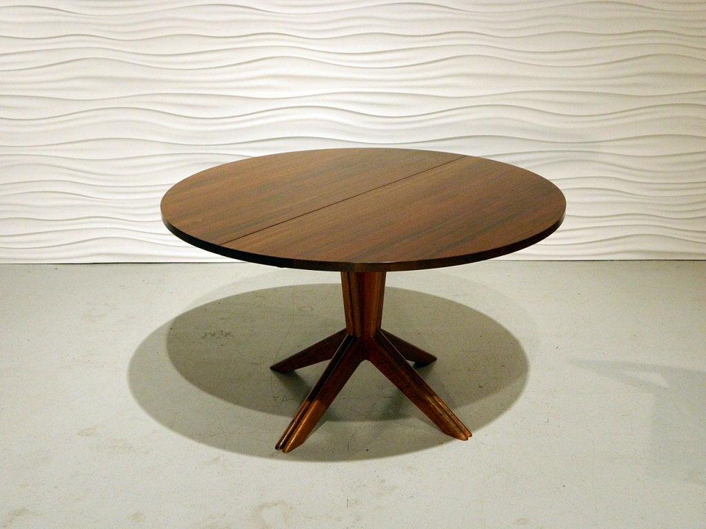 american modern solid walnut dining table at 1stdibs. Black Bedroom Furniture Sets. Home Design Ideas