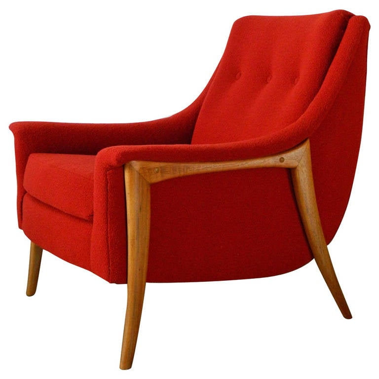 adrian pearsall style mid century modern lounge chair at