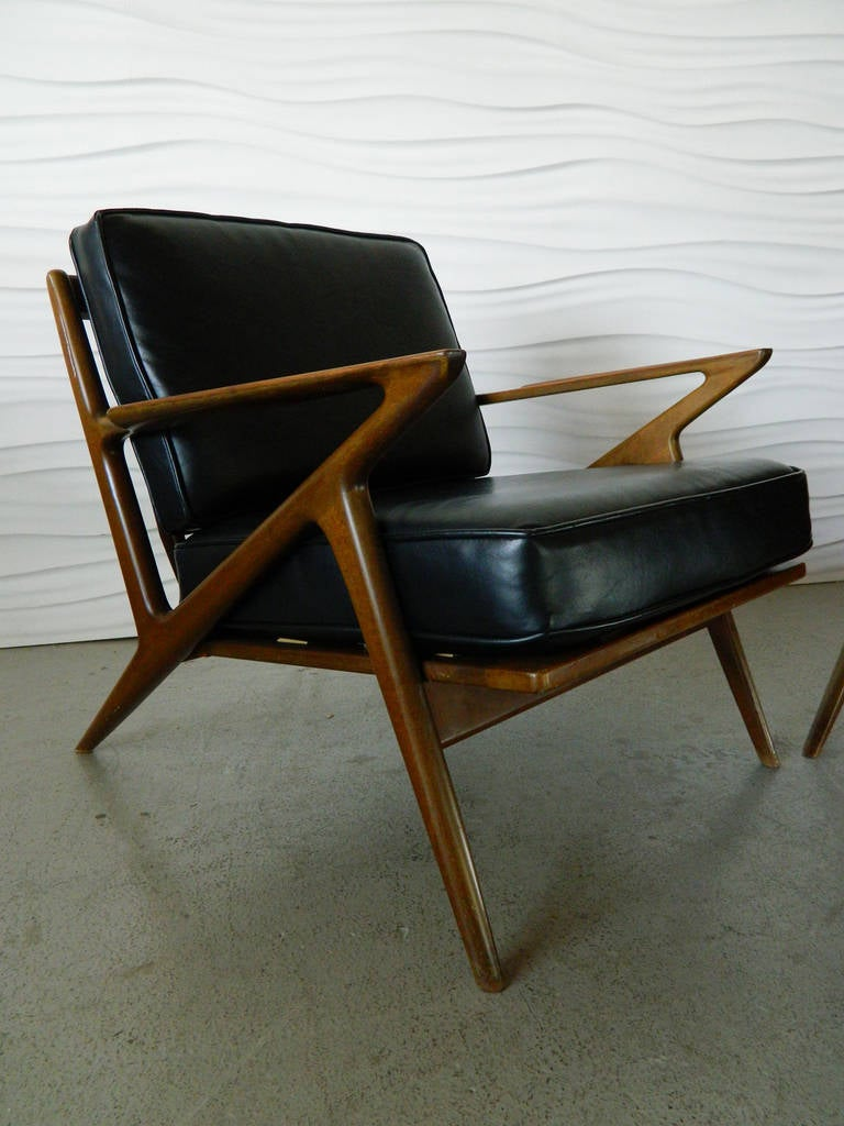 Pair of poul jensen walnut z chairs at 1stdibs for Poul jensen z chair
