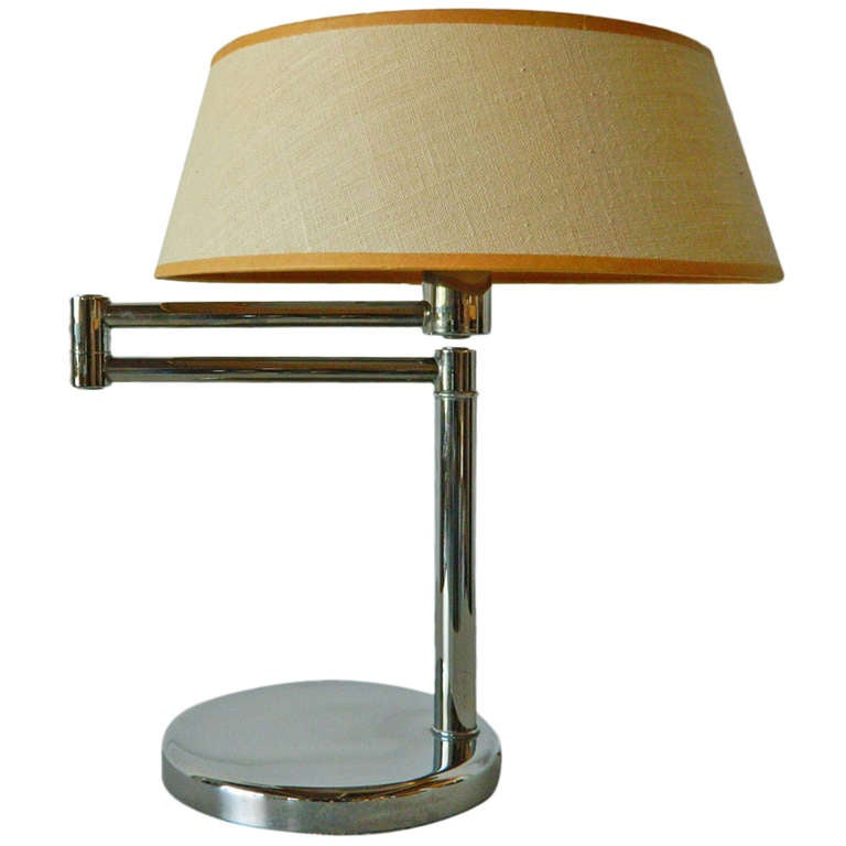 nessen swing arm table lamp for sale at 1stdibs. Black Bedroom Furniture Sets. Home Design Ideas