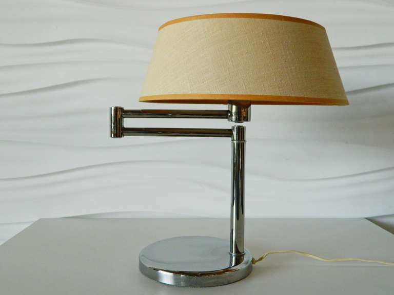 nessen swing arm table lamp at 1stdibs. Black Bedroom Furniture Sets. Home Design Ideas