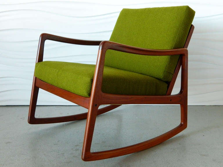 mid century danish modern rocker by ole wanscher at 1stdibs