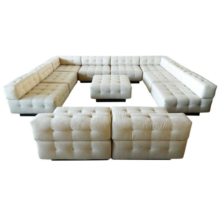 harvey probber 11 piece sectional sofa at 1stdibs. Black Bedroom Furniture Sets. Home Design Ideas