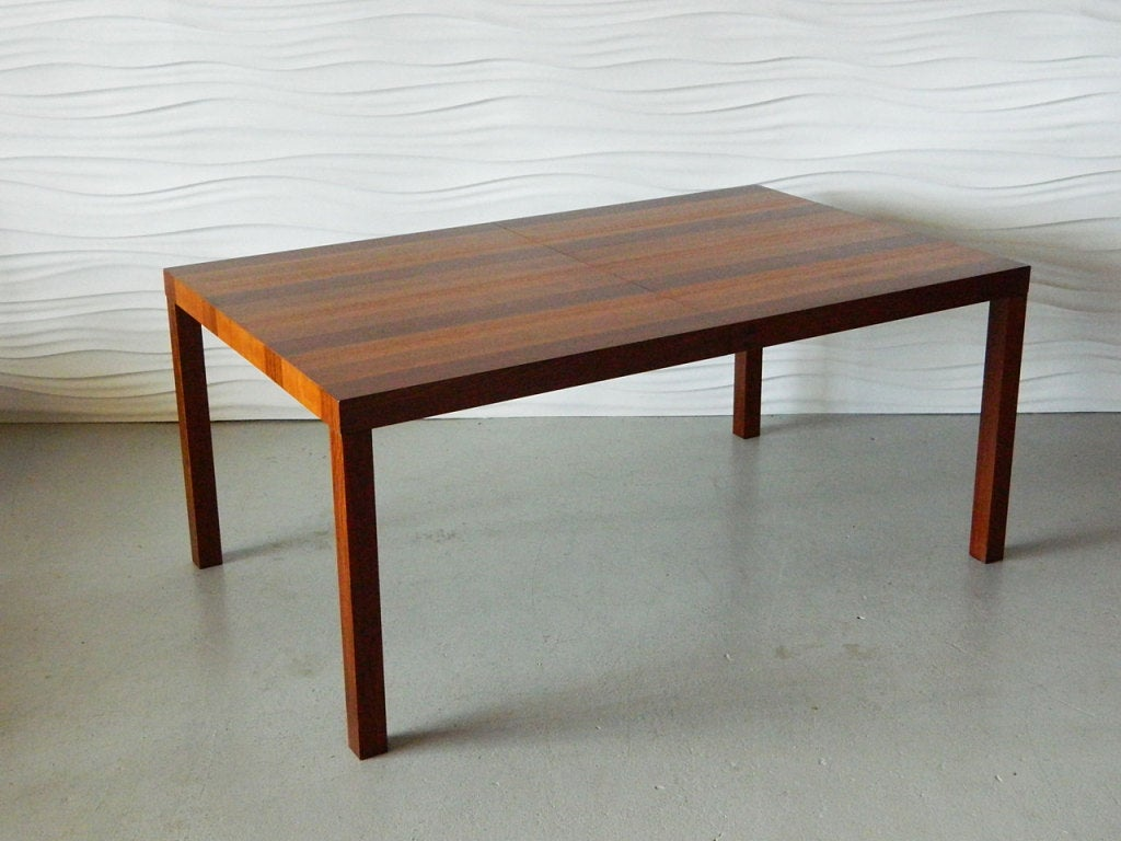 Dyrlund Of Denmark Tri Wood Parsons Table At 1stdibs