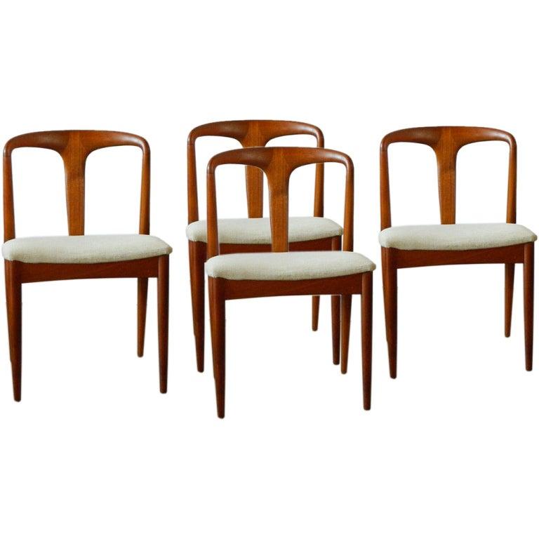 johannes andersen juliane solid teak dining chairs at 1stdibs