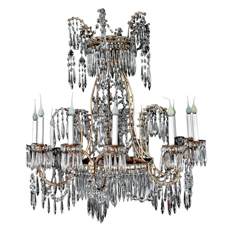 Superb Antique Russian Neoclassical Chandelier Ca 1890