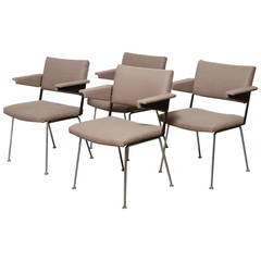 Set of Four Gispen Arm Chairs no. 11 by A.R. Cordemeijer