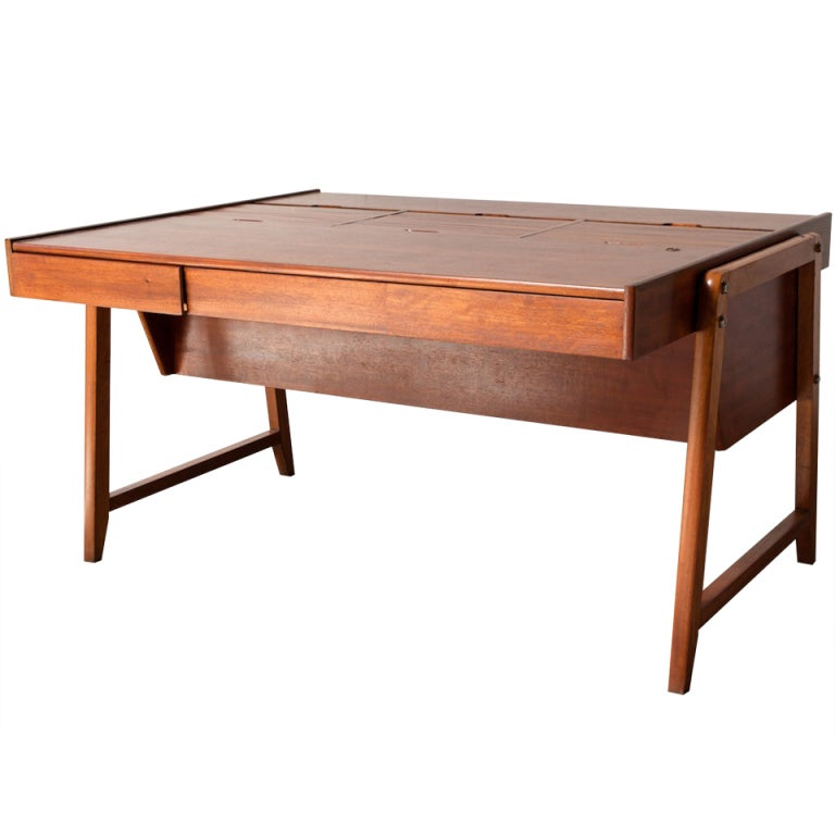 Extravagant Professional Desk With Tambourd Top File