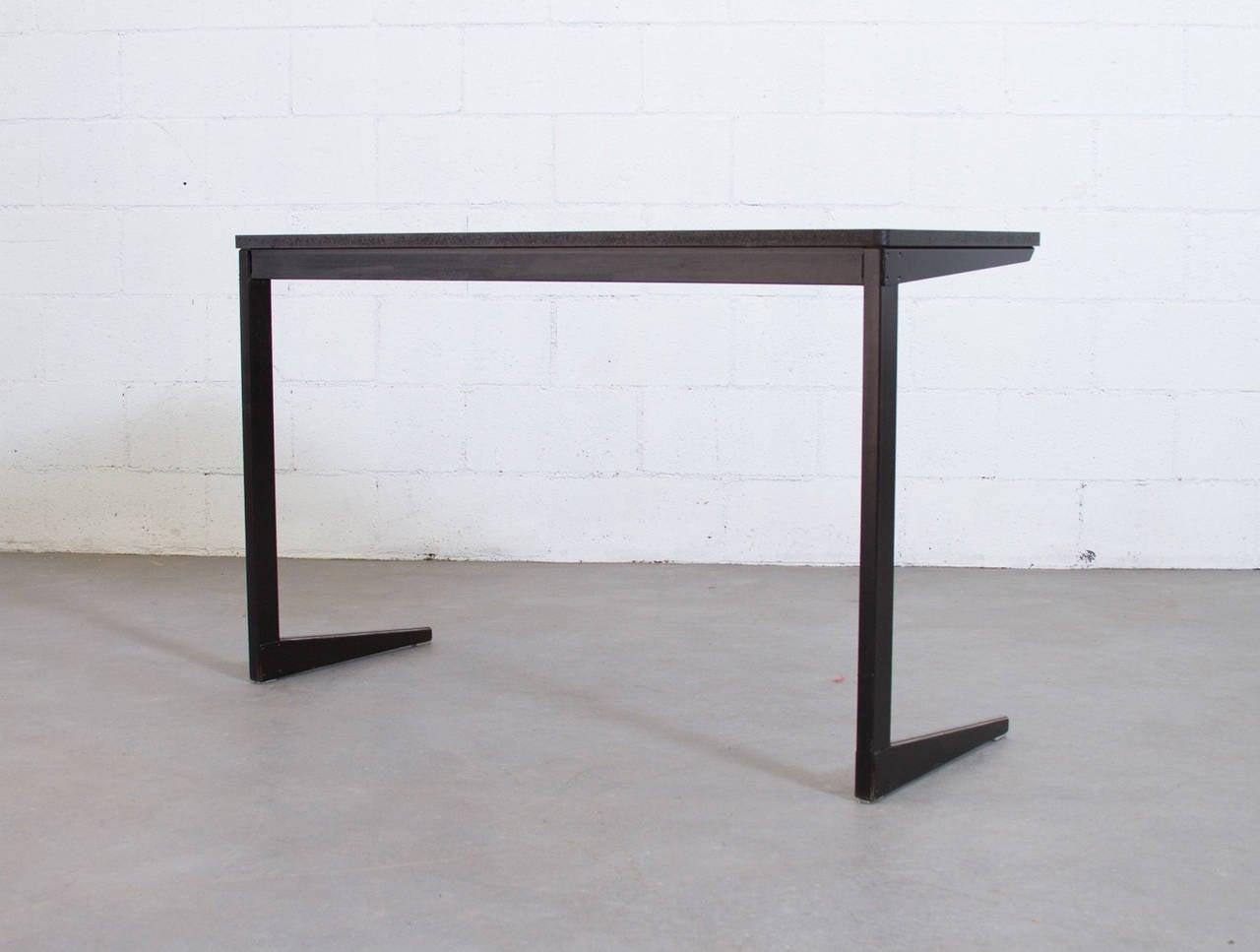 Enameled Friso Kramer for Ahrend de Cirkel Industrial School Desk For Sale