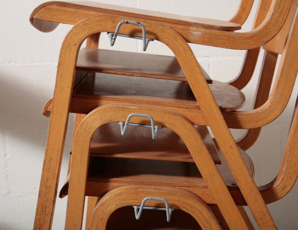 Birch Stacking School Chairs 3