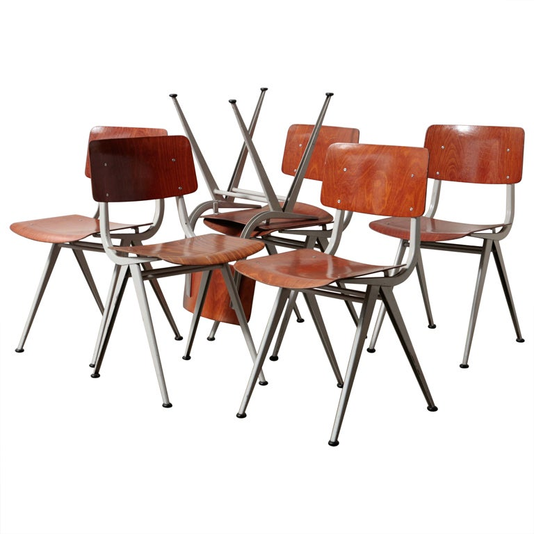Set of 6 friso kramer result style dining chairs at 1stdibs - Kamer dining ...
