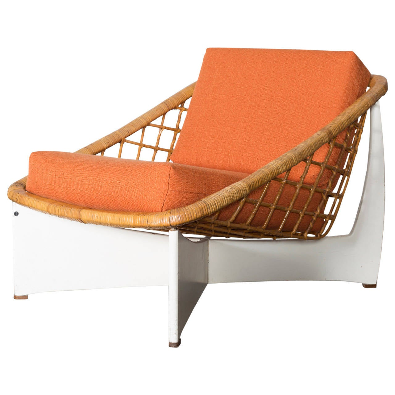 MOD Bamboo Low Lounge Chair by Pastoe at 1stdibs