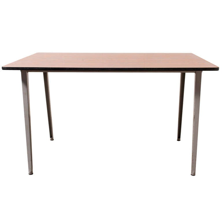 "Friso Kramer ""Revolt"" Industrial Dining or Work Table For Sale"