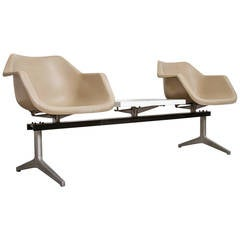 Robin Day Two-Seater Bench with Table for Tecno