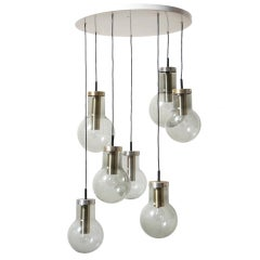 Raak Multi Smoked Glass Chandelier