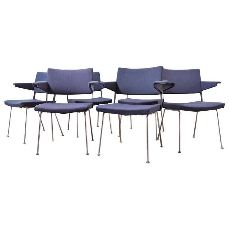 Set of 4 Gispen No. 11 Armchairs by A.R. Cordemeyer