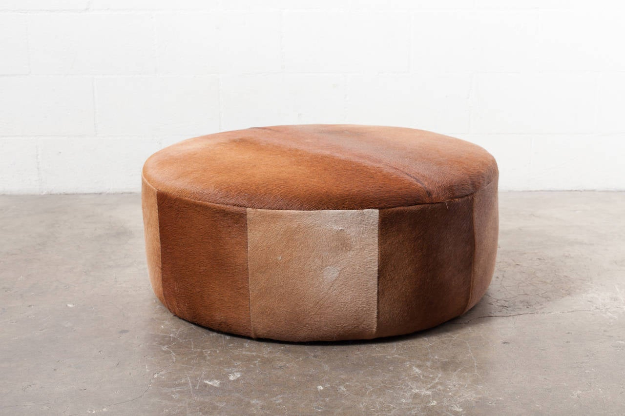 Top 28 Cowhide Ottoman Custom Made Round Ottomans