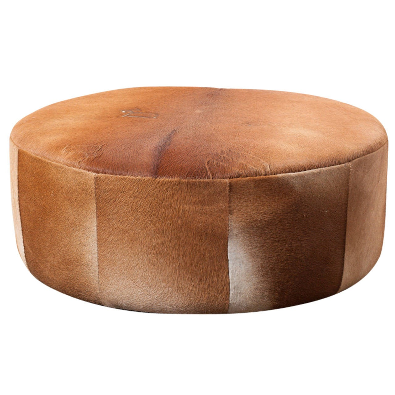 Vintage Inspired Cowhide Ottoman Or Coffee Table At 1stdibs