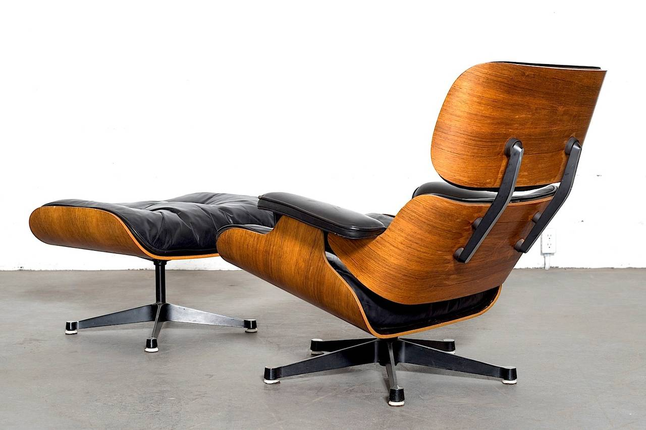 rosewood eames lounge chair by herman miller and vitra at 1stdibs. Black Bedroom Furniture Sets. Home Design Ideas