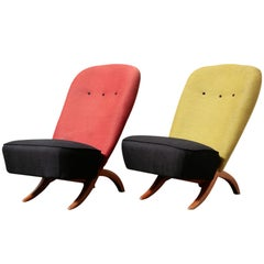 """Pair or Theo Ruth for Artifort """"Congo"""" Chairs"""