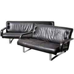 Kho Liang le for Artifort, Leather Sofa Set